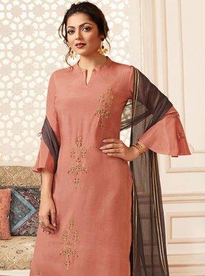 Pink Mehndi Viscose Trendy Palazzo Suit