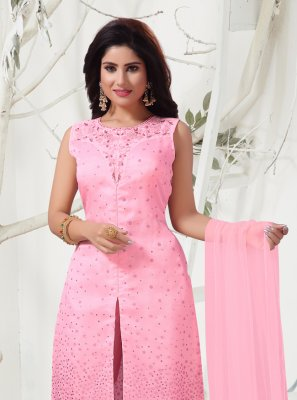 Pink Organza Designer Salwar Suit