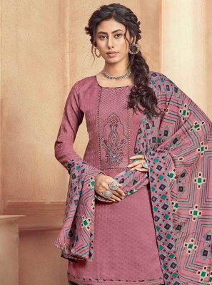 Pink Party Pashmina Designer Patiala Suit
