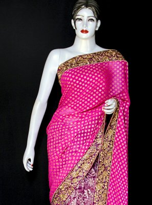 Pink Party Viscose Designer Saree