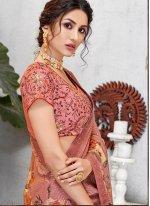 Pink Patch Border Traditional Designer Saree