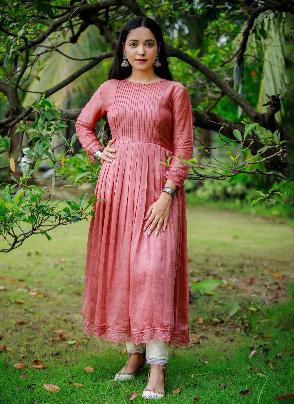 2 Pieces Rusty Pink Organic Munga Dress