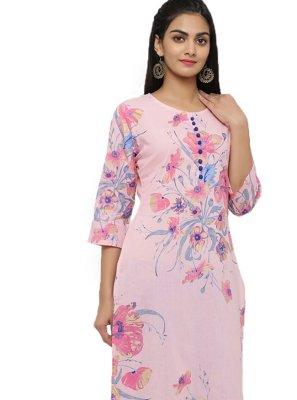 Pink Print Salwar Kameez