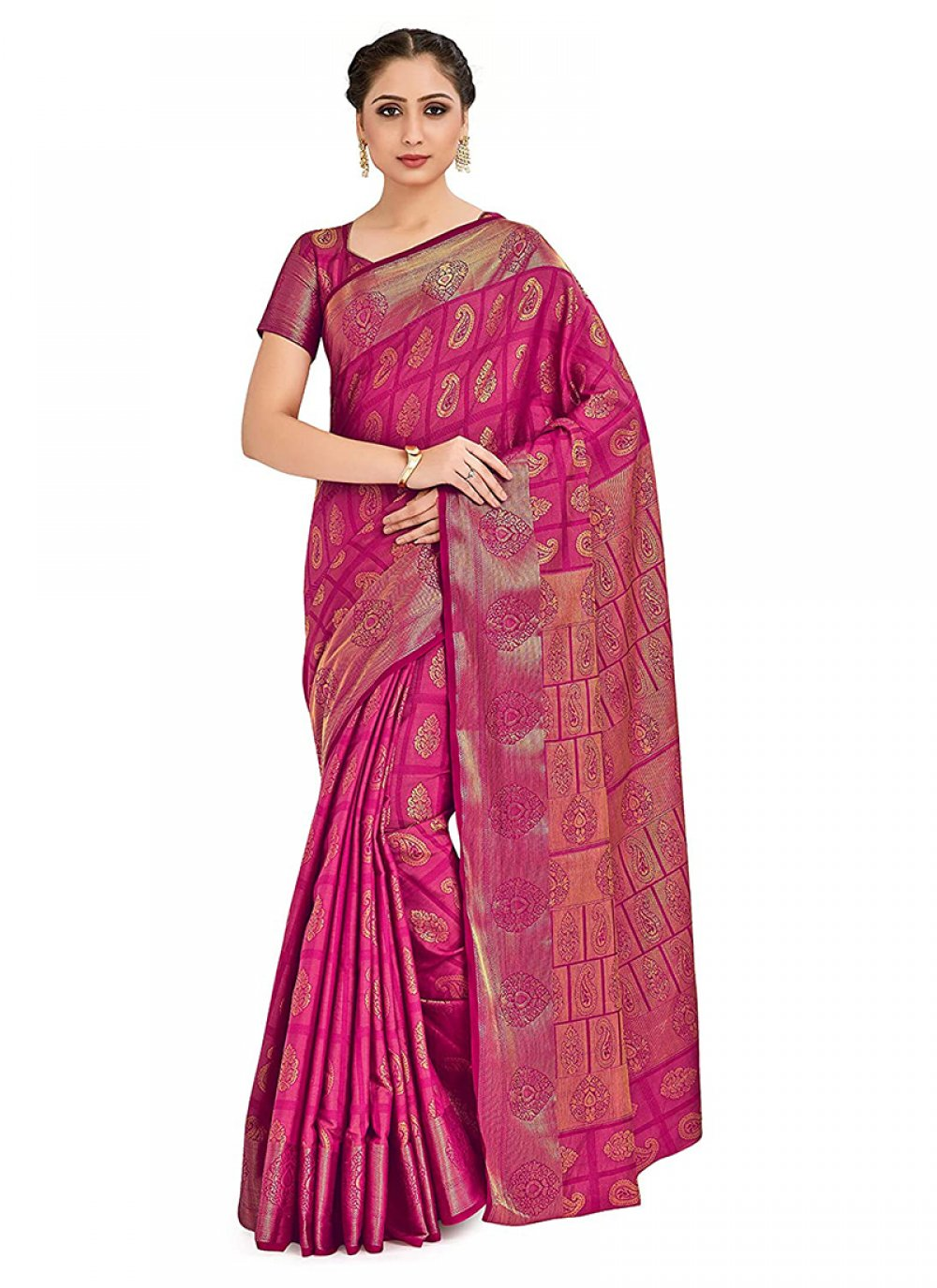 Pink Printed Designer Traditional Saree