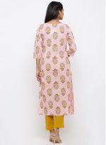 Pink Printed Festival Salwar Suit