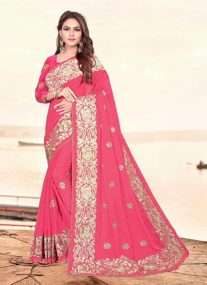 Pink Rangoli Festival Designer Saree