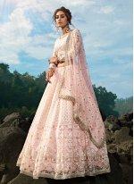 Pink Reception Bollywood Lehenga Choli