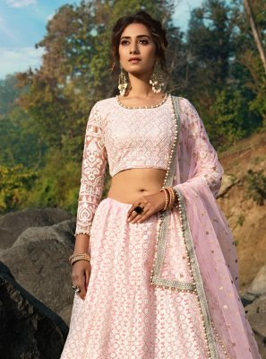 Pink Reception Bollywood Lehenga Choli