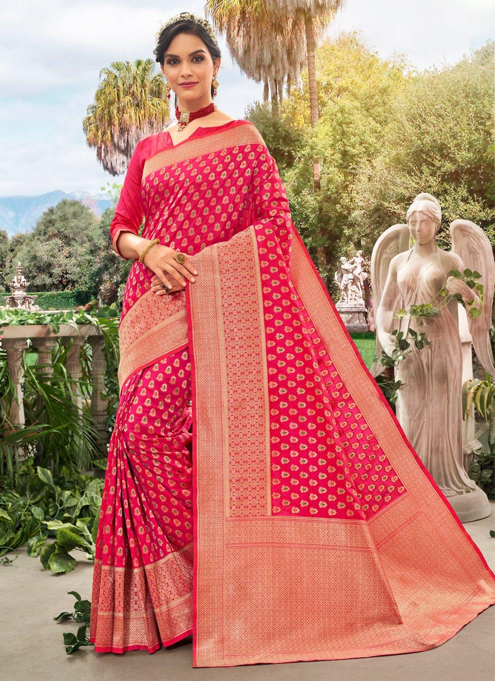Pink Reception Bollywood Saree