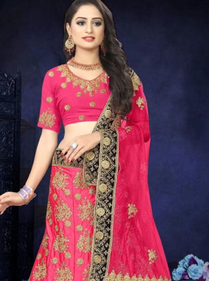 Pink Reception Designer Lehenga Choli