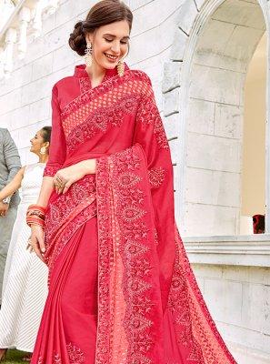 Pink Reception Designer Saree