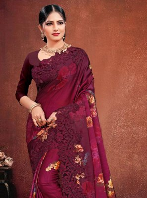 Pink Reception Designer Saree