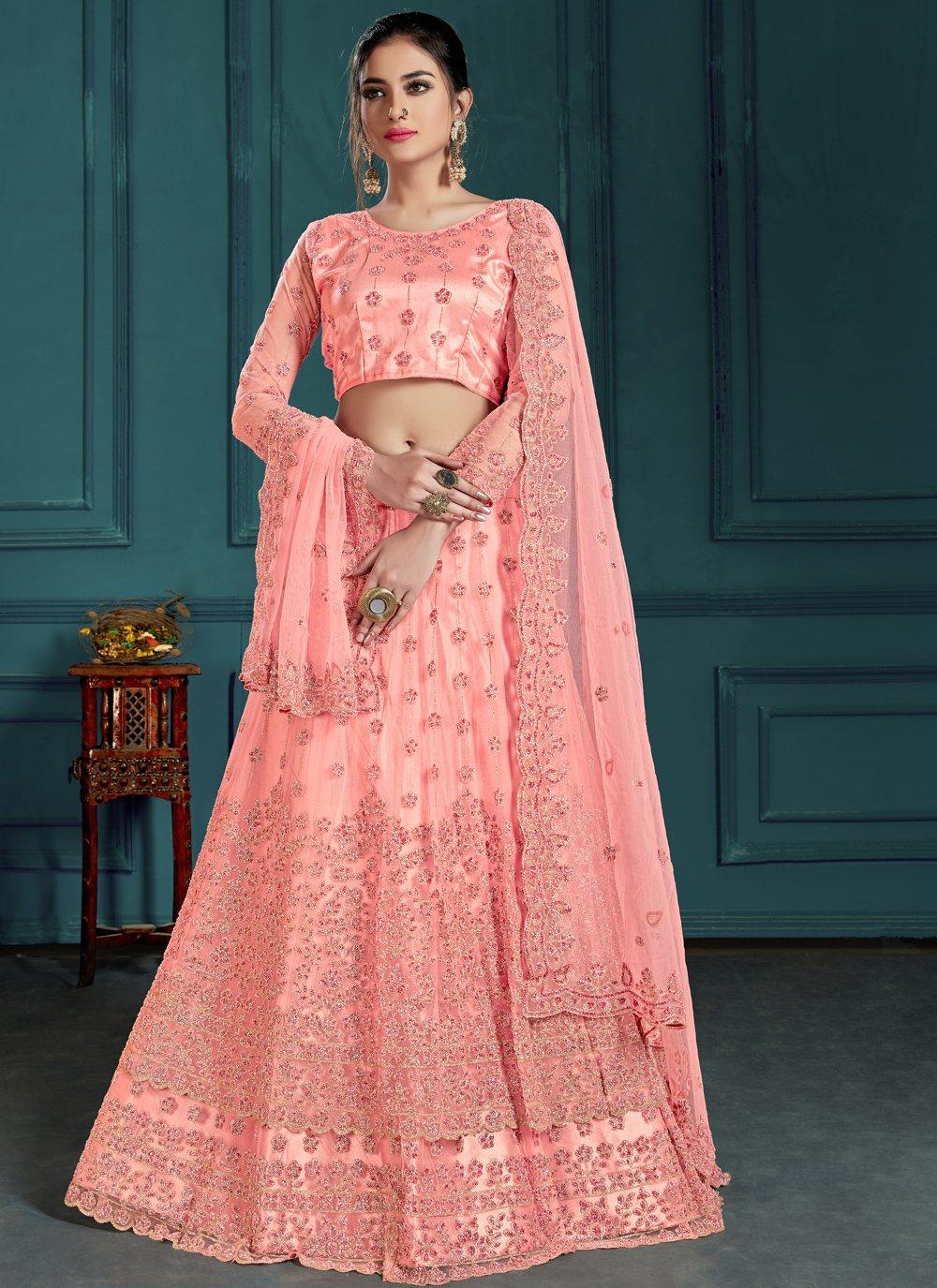 Pink Reception Lehenga Choli