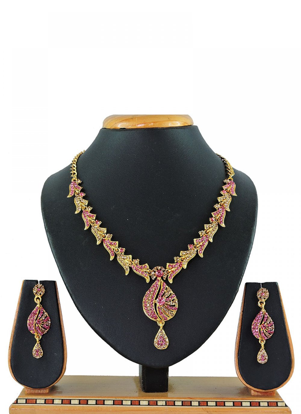 Pink Reception Necklace Set