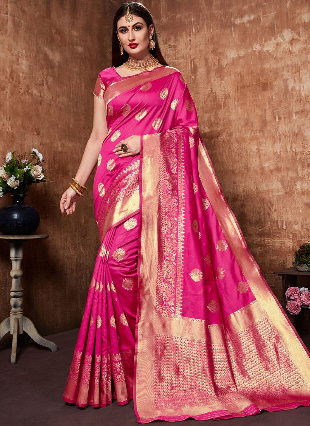 Pink Sangeet Designer Traditional Saree