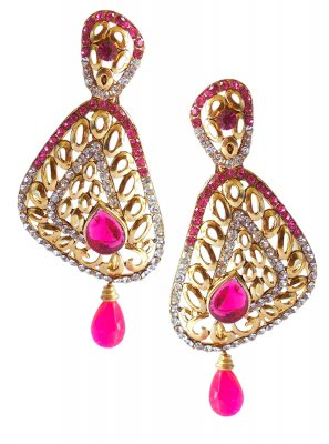 Pink Sangeet Ear Rings