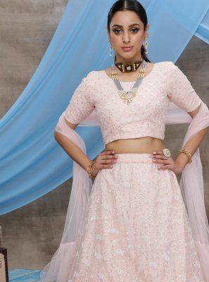 Pink Sequins Trendy Lehenga Choli
