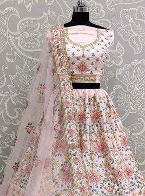 Pink Silk A Line Lehenga Choli
