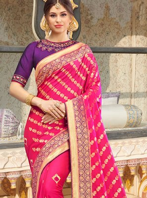 Pink Silk Border Silk Saree