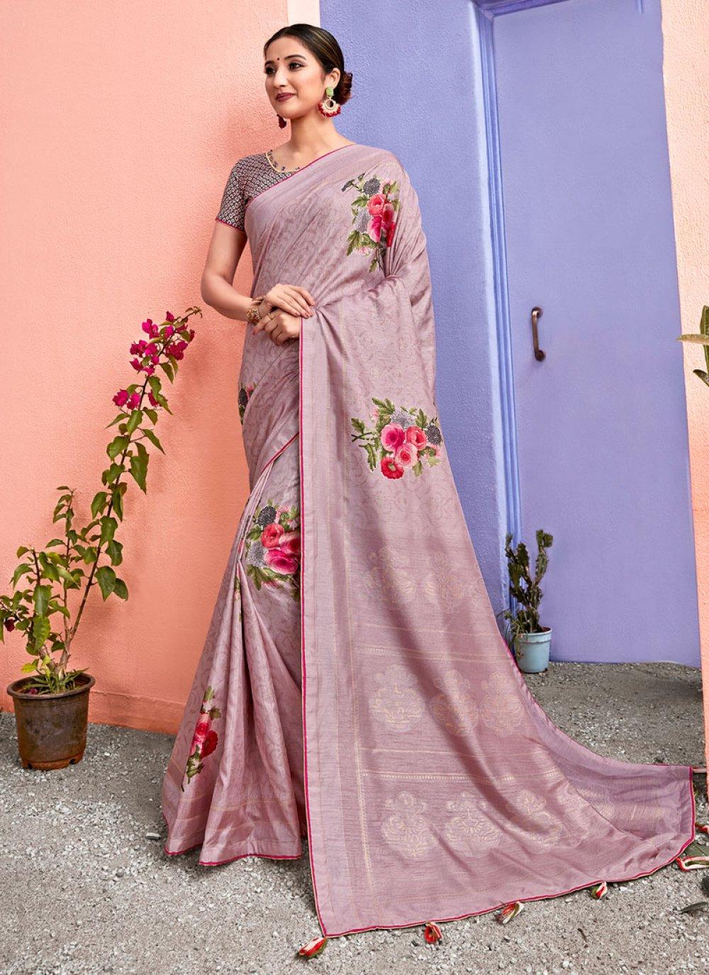 Pink Silk Ceremonial Silk Saree