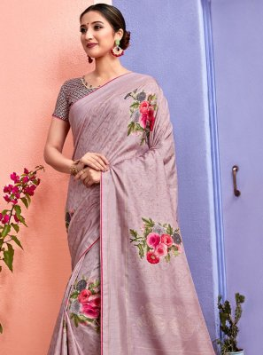 Pink Silk Ceremonial Silk Saree