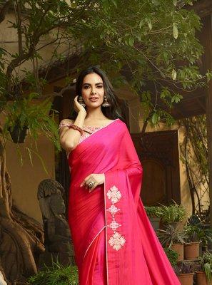 Pink Silk Festival Classic Designer Saree