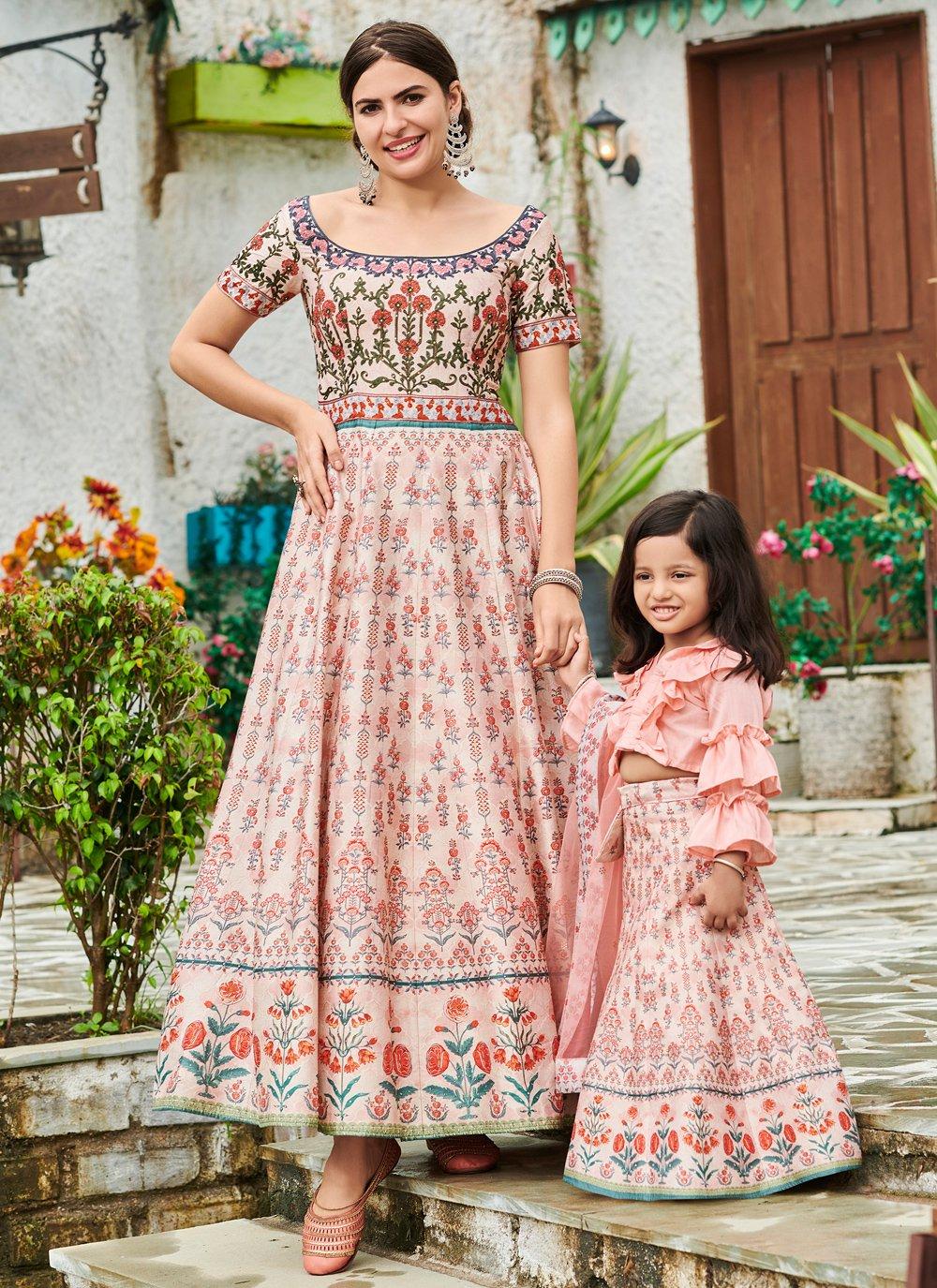 Pink Silk Floor Length Gown