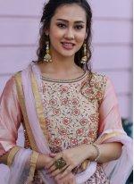 Pink Silk Trendy Gown