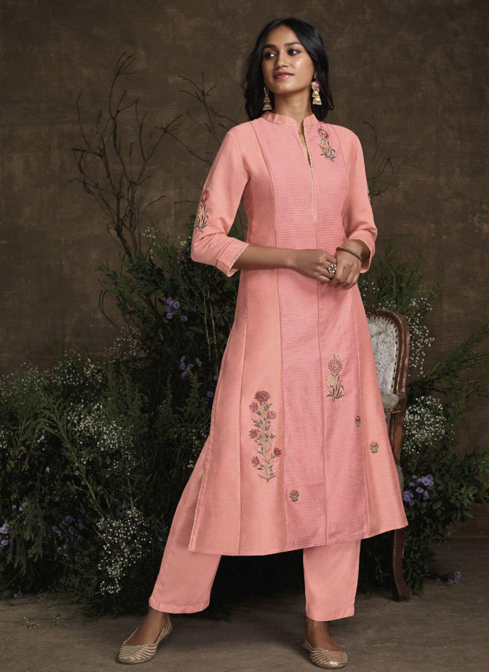 Pink Silk Trendy Salwar Suit