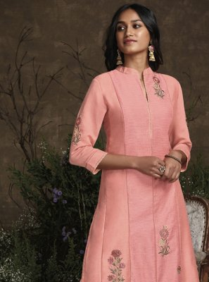 Pink Silk Trendy Salwar Suit