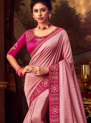 Pink Silk Wedding Designer Saree