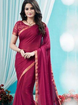 Pink Stone Silk Designer Saree