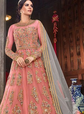Pink Trendy Long Length Anarkali Suit