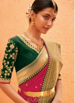 Pink Weaving Bollywood Saree