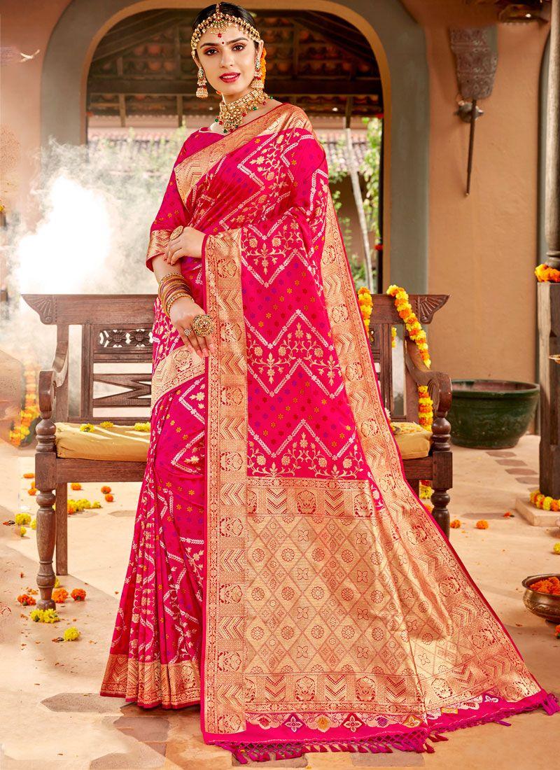 Pink Weaving Reception Classic Designer Saree