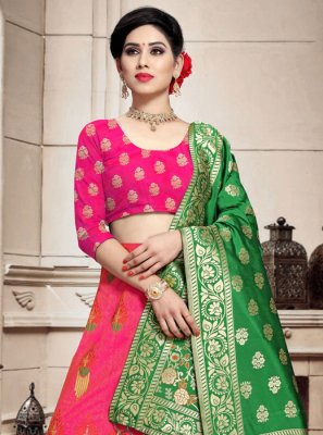 Pink Wedding A Line Lehenga Choli