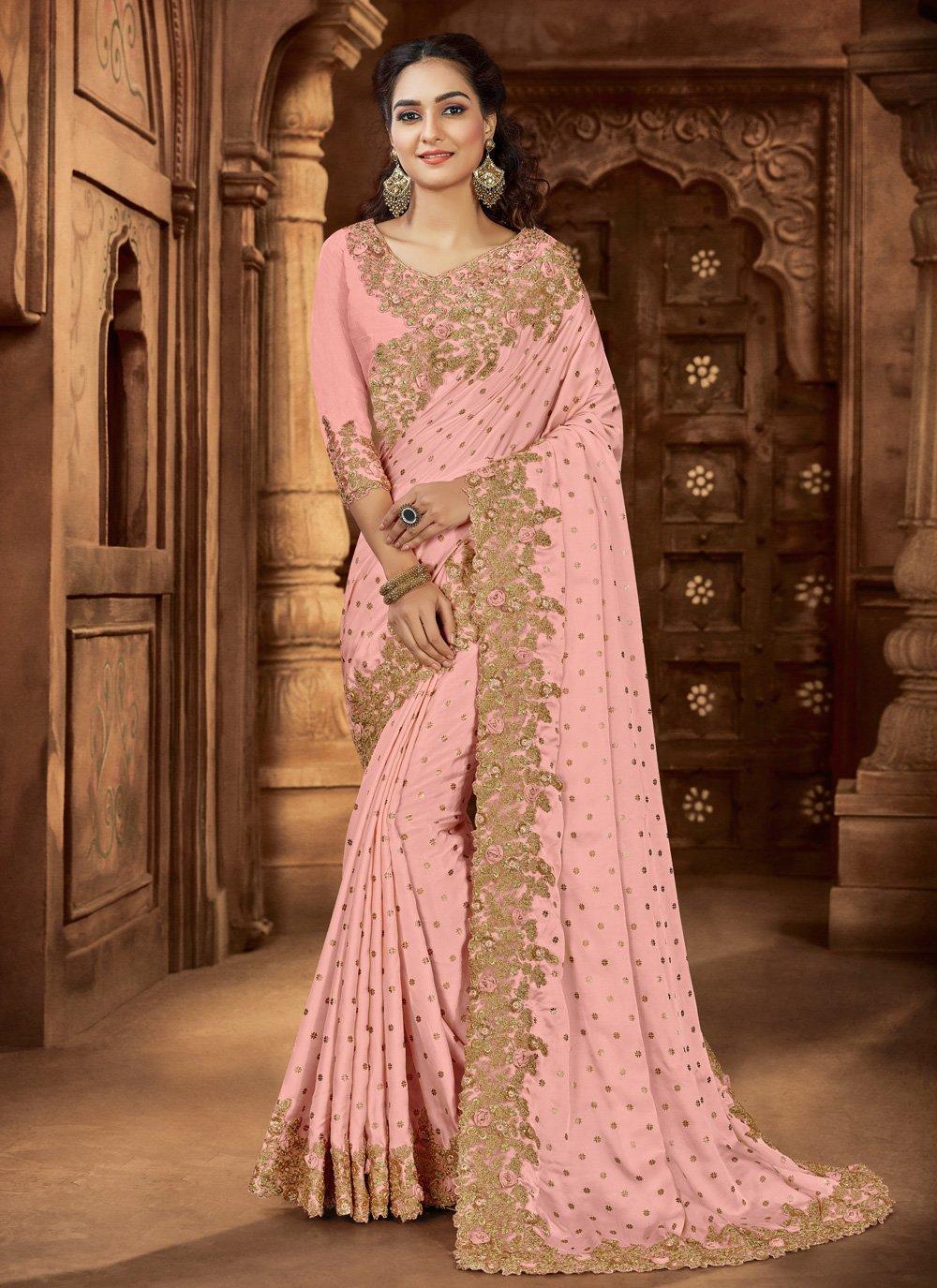 Pink Wedding Bollywood Saree