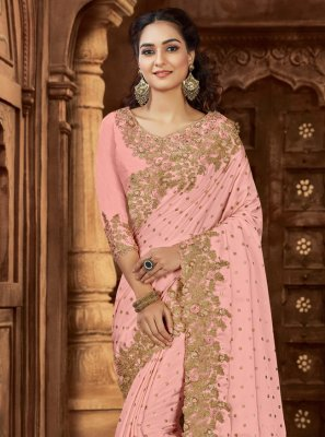Pink Wedding Bollywood Saree