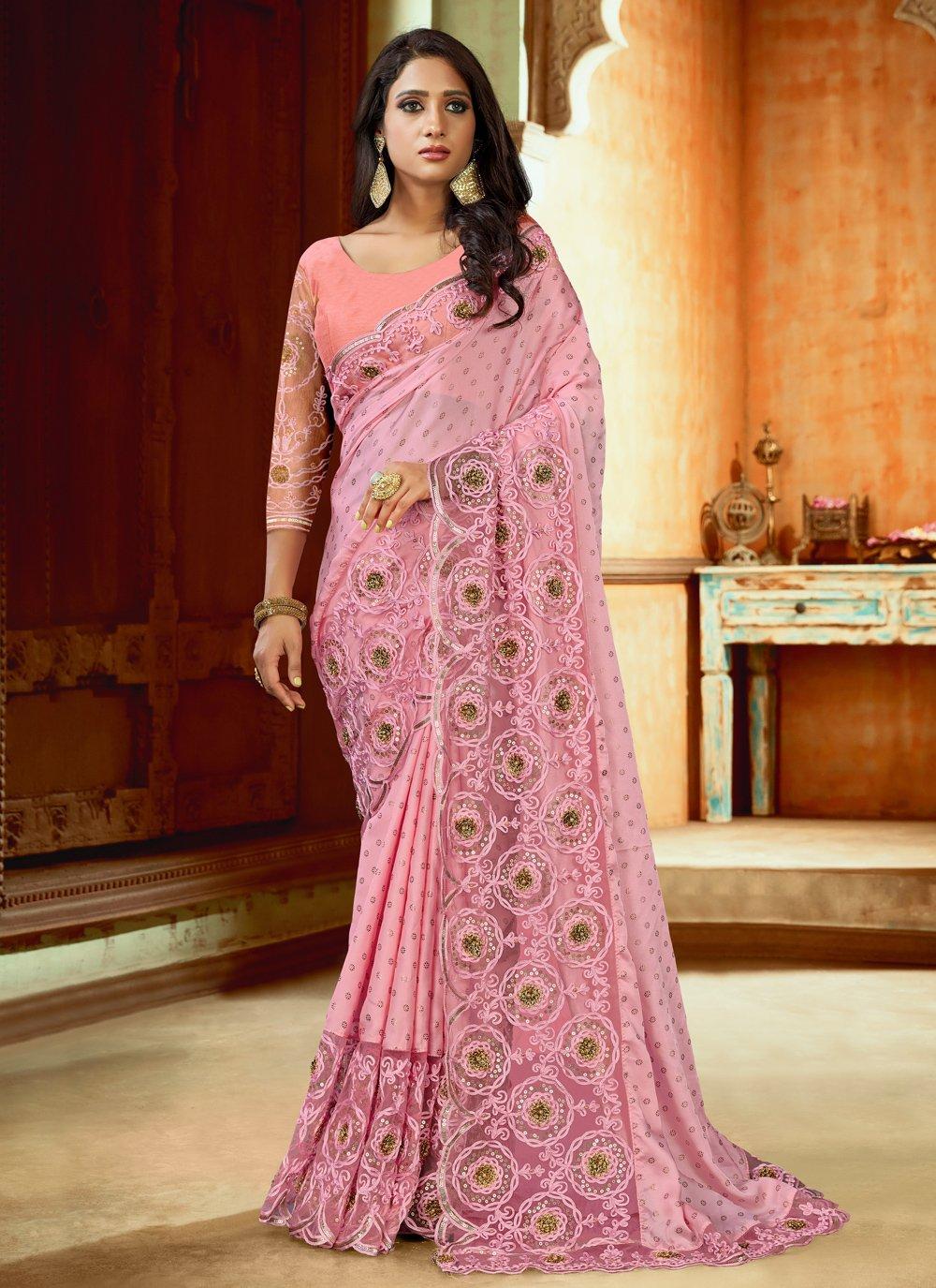 Pink Wedding Designer Saree