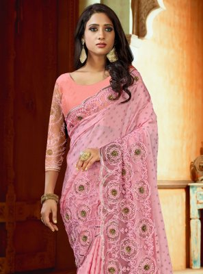 Pink Wedding Designer Saree