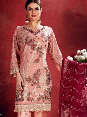 Pink Wedding Georgette Salwar Suit