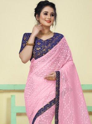 Pink Woven Classic Saree