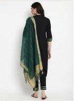 Plain Black Designer Salwar Kameez