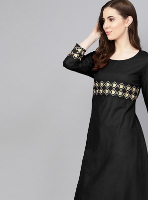 Plain Black Salwar Suit