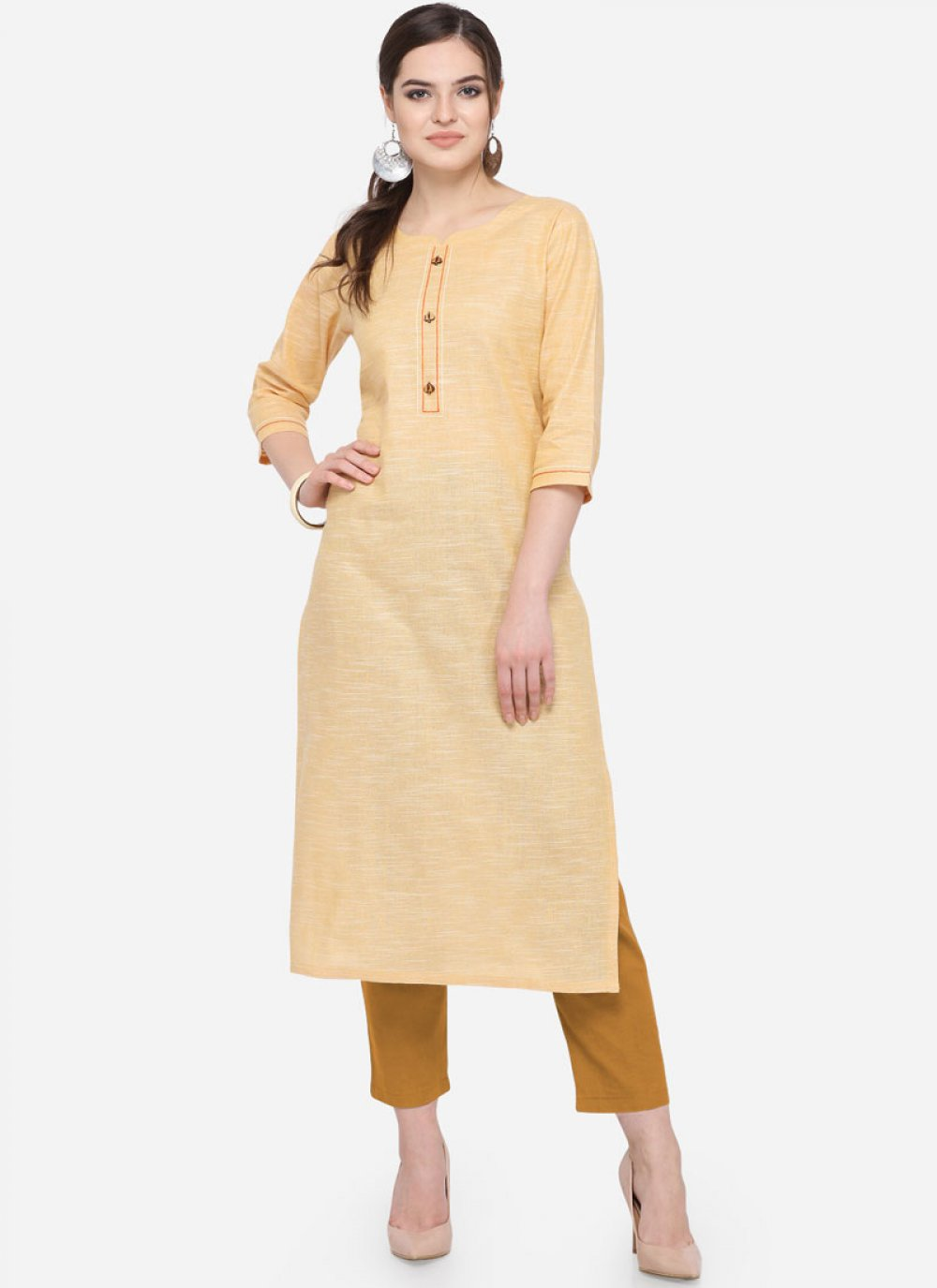 Plain Casual Party Wear Kurti