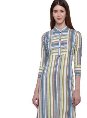 Plain Cotton Multi Colour Casual Kurti