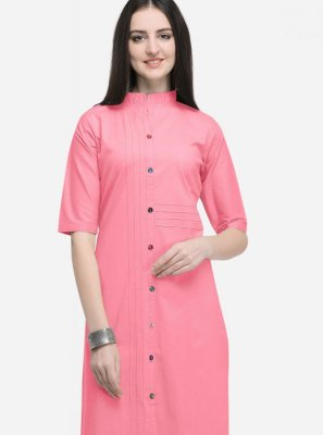 Plain Cotton Party Wear Kurti