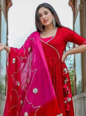Plain Festival Salwar Suit