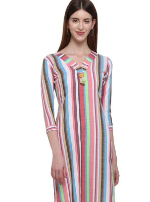 Plain Multi Colour Casual Kurti