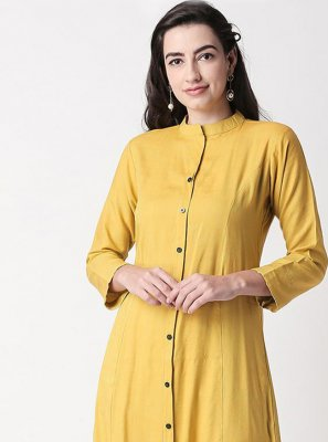 Plain Party Casual Kurti